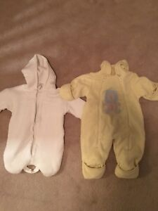Newborn and 3-6 mth bunting suit