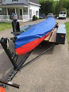 22'cedar strip canoe