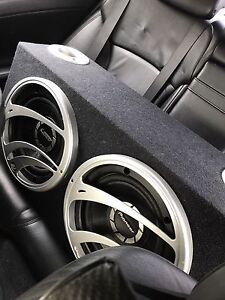 "^^** PIONEER 12"" SUBS IN PORTED BOX WITH MTX AMPLIFIER"