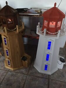 Lighthouse 3 footer with solar lighting