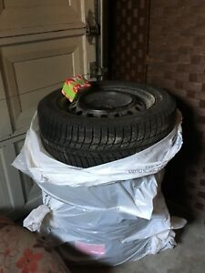 "Michelin XICE 16"" Winter Tire set with rims and mats"