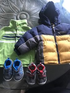 Boys 12 months clothing and shoes