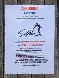 SurfRider Surf Sale:SAT 16 DEC,10am, 12 Landcox St,East Brighton