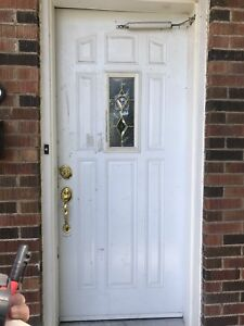 Exterior Door with Glass Insert 34x80 (will take best offer)