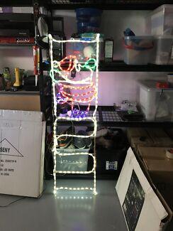LED Ropelight Santa on Ladder