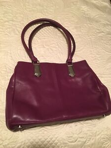 Danier leather purple handbag