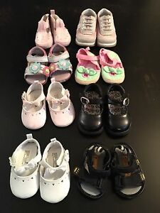 Toddler SIZE 2 shoes (8 pairs)
