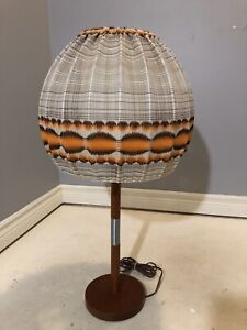 Atomic Age Mcm Teak Table Light Fixture - Lamp