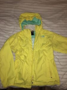 North Face yellow wind breaker size youth XL