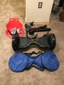 Off-Road Hoverboard with mini-kart accessory $225 OBO
