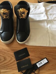 Authentic Versace men's sneakers all leather