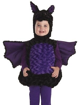Bat Costume Belly Babies Plush Cute Animal Child Boys Girls -Size 4-6 -