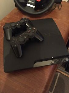 PS3, Peddles, Wheel, 2 Controllers, and Games