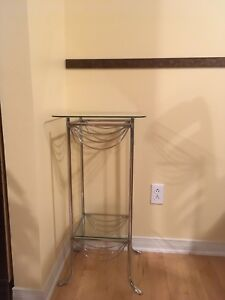Glass telephone /console table