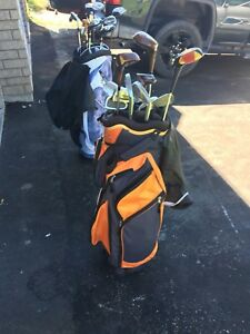 Right-handed men's golf clubs and bag