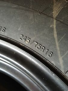 245/75R16 snow tires and rims to fit a Toyota Tacoma
