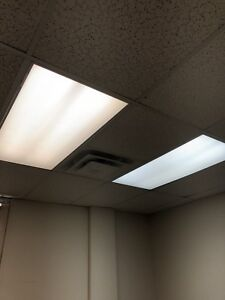 2x4 fluorescent t-bar lights.