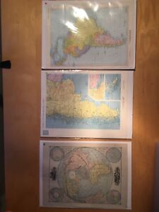 3 maps, new in wrapping: Argentina, South America, world