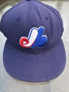 reputable site fd223 75cc8 Vintage Montreal Expos Fitted Hat 7 3 8