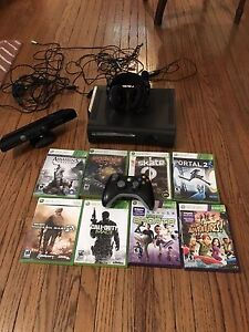 Xbox 360 and Kinect plus 8 games