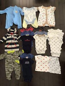 Newborn baby boy clothing ~20 items