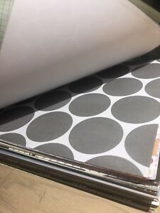 Stack of scrapbooking paper