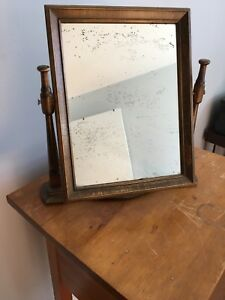 Sweet antique tabletop mirror.