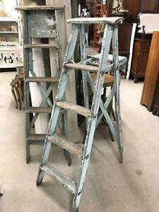ANTIQUE WOODEN LADDERS