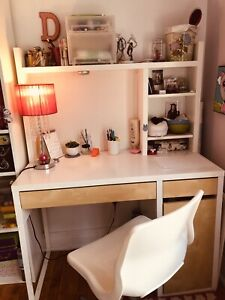 All must go! ONLY 220$  IKEA  desk , bookcase , bench , chair