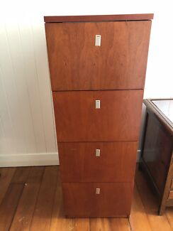Large Solid Wood Filing Cabinet