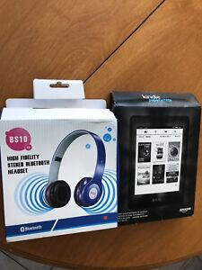 Kindle paperwhite and Bluetooth headphones