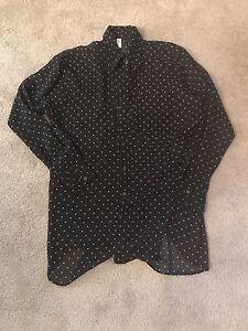 American Apparel - Chiffon Button Up Shirt