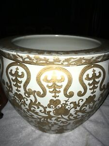 Chinese gold accent fish bowl