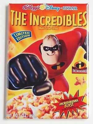 The Incredibles Cereal Box Fridge Magnet  2 X 3 Inches  Animated Movie