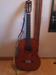 Fender brown acoustic guitar