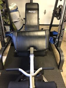 Weight bench and peck deck