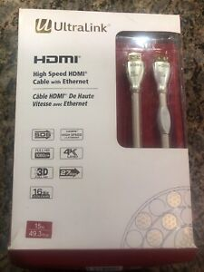 Ultralink High Speed 4K HDMI 15m Cable **New**