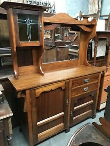 1900s Antique Oak sideboard Traralgon Latrobe Valley Preview