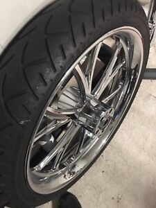 21 inch wheel and fender for sale