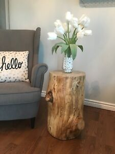 Wooden side tables-modern rustic accent table