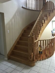 Oak wooden pickets for stairs