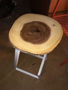 Upcycled wooden side table