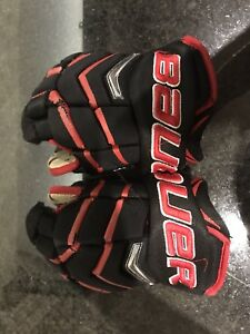 "Bauer one 8 10"" youth hockey gloves for kids"