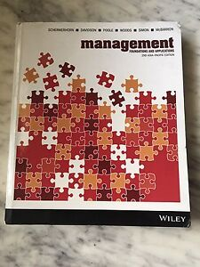 Management Foundations and Applications Textbook Dalkeith Nedlands Area Preview