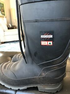 Men's steel toe insulated rubber boots