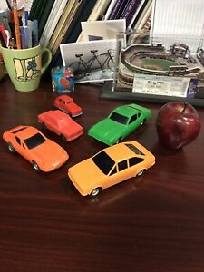 10 old cars-plastic/die cast lot