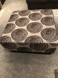 Big Swirl Chocolate Ottoman
