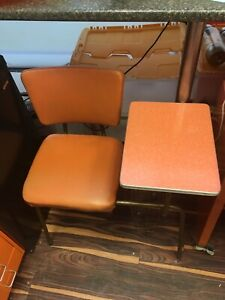 Mid Century Orange Telephone Table