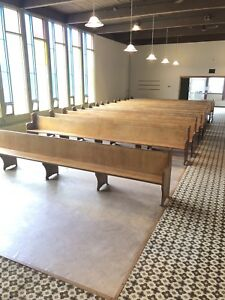 Solid Wood Church Pews for Sale