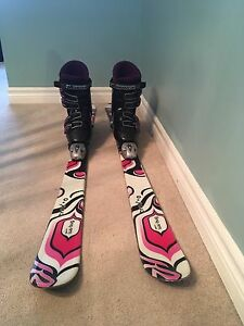 Girls skis and boots